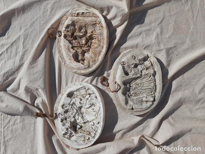 Antigüedades: Moldes escayola. Para orfebrería. Semana santa. Iglesia. Santo. Virgen - Foto 23 - 229123225