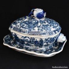 Antiquités: MUY ANTIGUA SOPERA CHINA - UNITED WILSON PORCELAIN FTY - PORCELANA DE ALTO FUEGO. Lote 229151250
