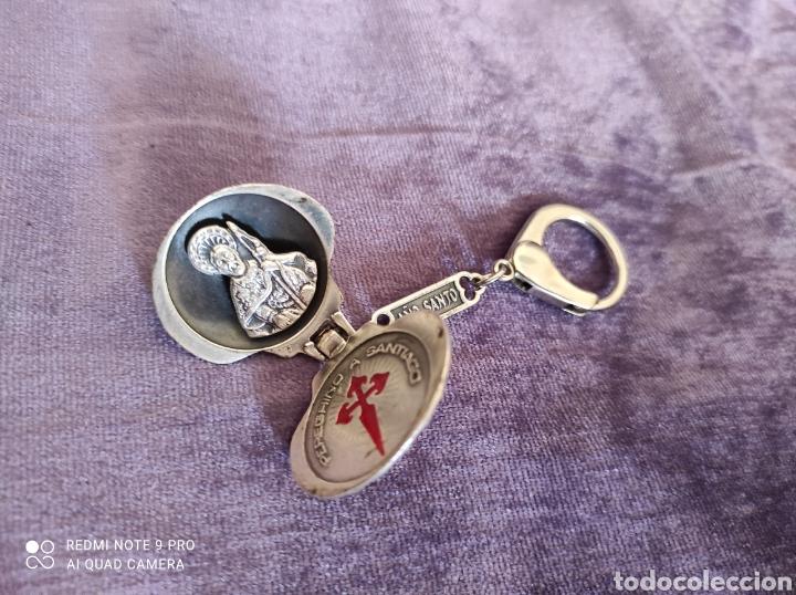 Antigüedades: Llavero el año Santo paño de plata - Foto 3 - 229182895