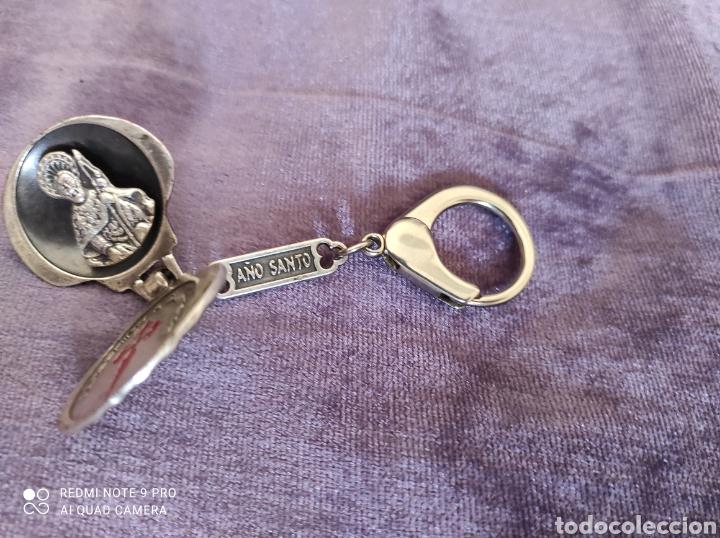 Antigüedades: Llavero el año Santo paño de plata - Foto 4 - 229182895