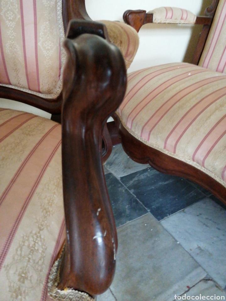 Antigüedades: Butaca Isabelina de caoba - Foto 4 - 229185430