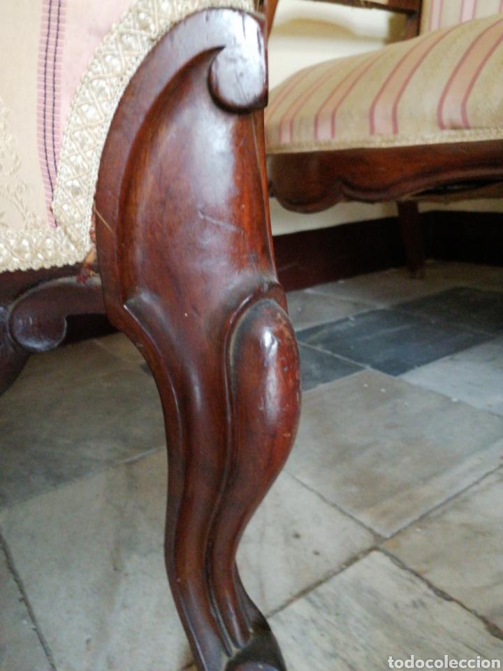 Antigüedades: Butaca Isabelina de caoba - Foto 5 - 229185430