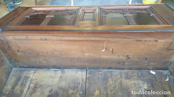 Antigüedades: ARCA DE NOVIO. NOGAL.INCRUSTACIONES DE BOJ. MONASTERIO DE SANTES CREUS(?). ESPAÑA. XVII-XVIII - Foto 33 - 229185480