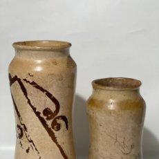 Antigüedades: ALBARELOS DE FARMACIA DE TALAVERA O PUENTE S.XVIII. Lote 229189555