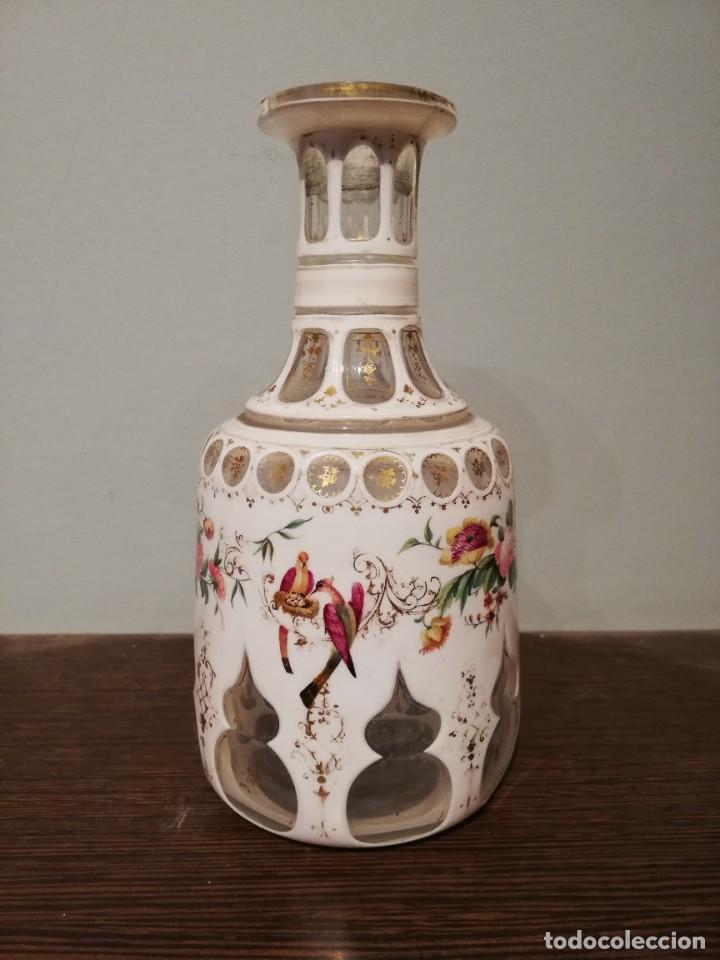 Antigüedades: INTERESANTE BOTELLA DE CRISTAL OVERLAY DE BOHEMIA S. XIX - Foto 10 - 229241910