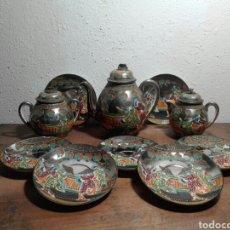 Antigüedades: JUEGO DE TÉ / CAFÉ SATSUMA. Lote 229243185