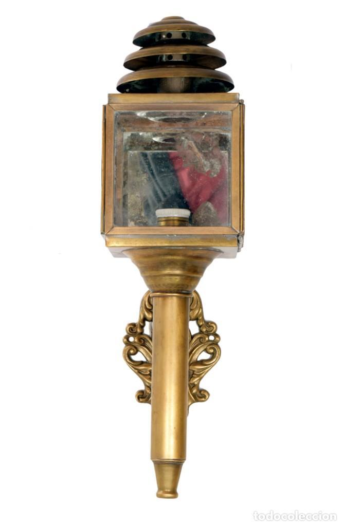 FAROL DE CARRO FRANCÉS (Antigüedades - Iluminación - Apliques Antiguos)