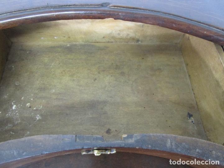 Antigüedades: Cómoda Catalana - Madera de Nogal y Marquetería - Tiradores de Bronce Originales - S. XVIII - Foto 21 - 229370360
