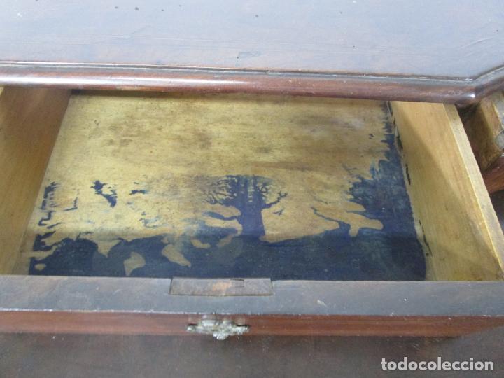 Antigüedades: Cómoda Catalana - Madera de Nogal y Marquetería - Tiradores de Bronce Originales - S. XVIII - Foto 22 - 229370360