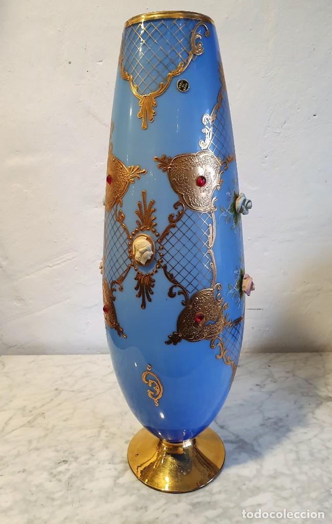 COPA VIOLETERO DE MURANO (Antigüedades - Cristal y Vidrio - Murano)