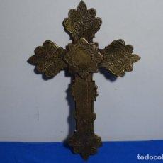Antigüedades: ANTIGUA CRUZ DE GRAN TAMAÑO EN BRONCE.460 GRAMOS.. Lote 229619540