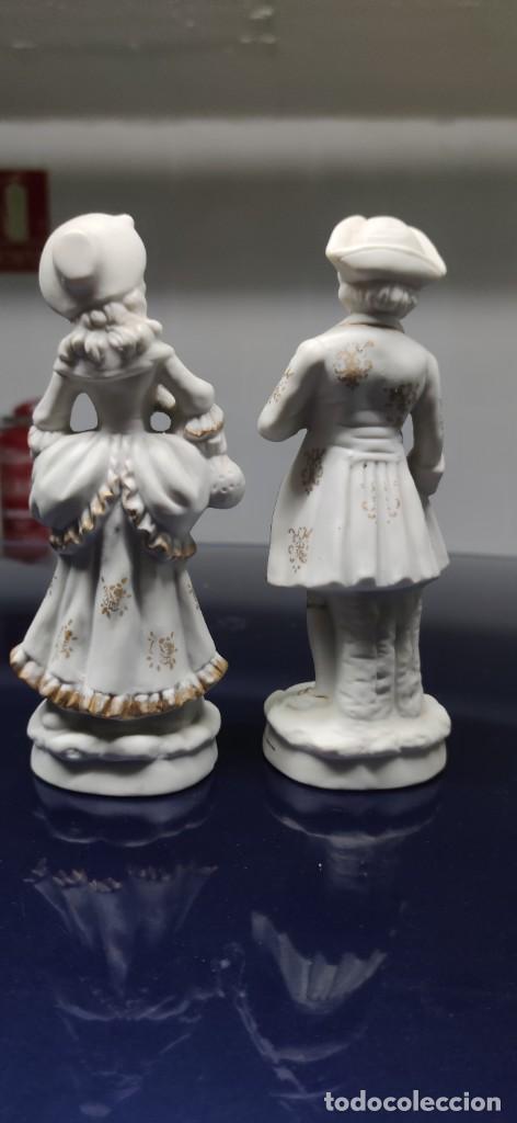 Antigüedades: PRECIOSA PAREJA DE FIGURAS EN BISCUIT. - Foto 5 - 229625095