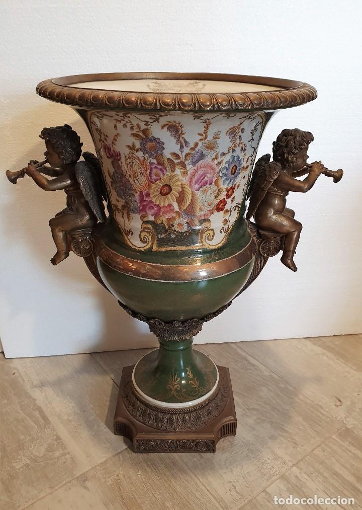 Antigüedades: GRAN MACETERO DE PORCELANA CON SELLO - Foto 6 - 229639390