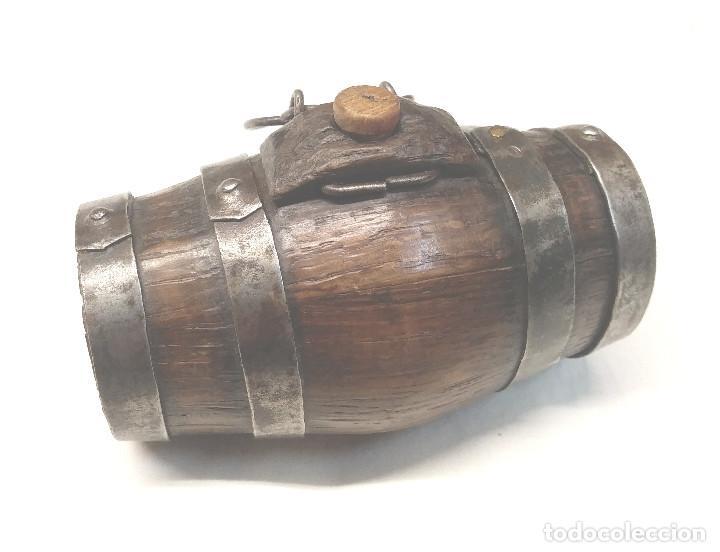 Antigüedades: Tonel Barrilet para Perro Pastor 1/2 Litro Arte Pastoril, buen estado. Med 14 cm - Foto 4 - 229661760