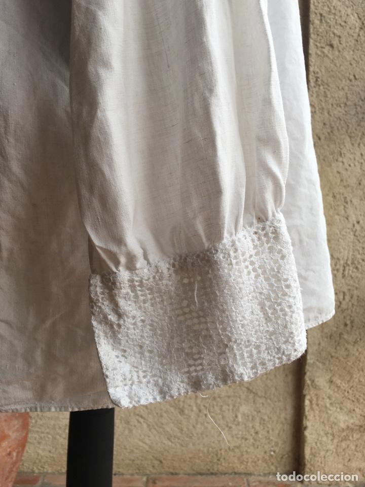 Antigüedades: Camisa de hombre de indumentaria tradicional - Cuello mao - Foto 3 - 229667345