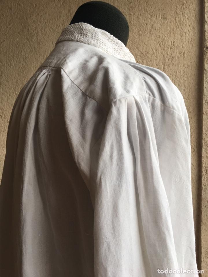 Antigüedades: Camisa de hombre de indumentaria tradicional - Cuello mao - Foto 4 - 229667345