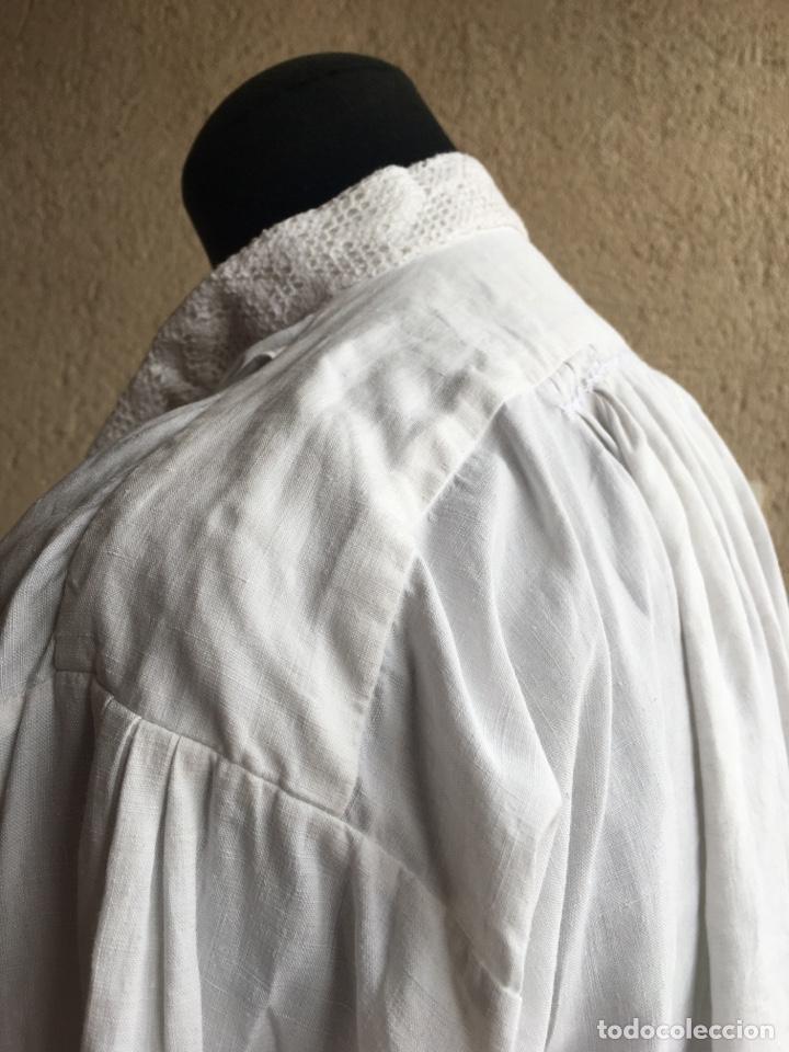 Antigüedades: Camisa de hombre de indumentaria tradicional - Cuello mao - Foto 5 - 229667345