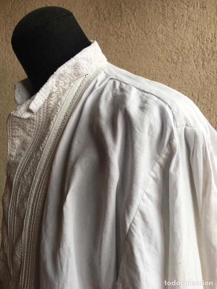 Antigüedades: Camisa de hombre de indumentaria tradicional - Cuello mao - Foto 6 - 229667345