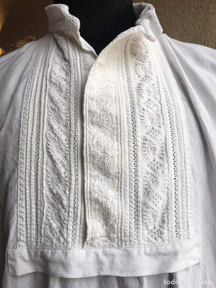 Antigüedades: Camisa de hombre de indumentaria tradicional - Cuello mao - Foto 7 - 229667345