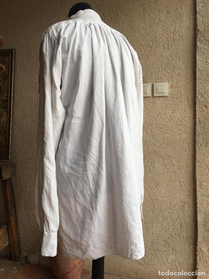 Antigüedades: Camisa de hombre de indumentaria tradicional - Cuello mao - Foto 8 - 229667345