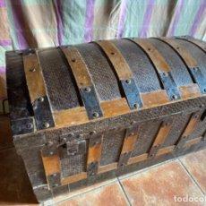 Antigüedades: BAÚL DE MADERA Y METAL. Lote 229687050