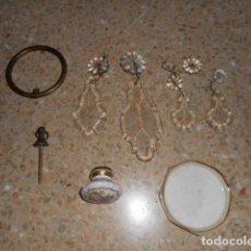 Antigüedades: PIEZAS DE LAMPARA Y PUERTA. Lote 229729640
