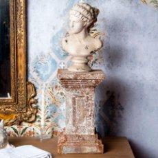 Antigüedades: PEDESTAL DE HIERRO. Lote 229733360
