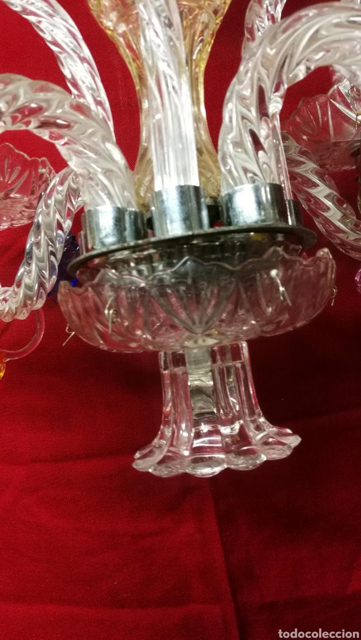 Antigüedades: PRECIOSA LAMPARA ARAÑA DE CRISTAL - Foto 5 - 229728815