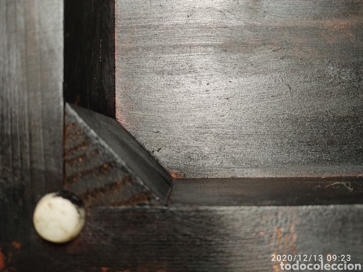 Antigüedades: Pareja de peanas de madera lacada - Foto 6 - 205514642