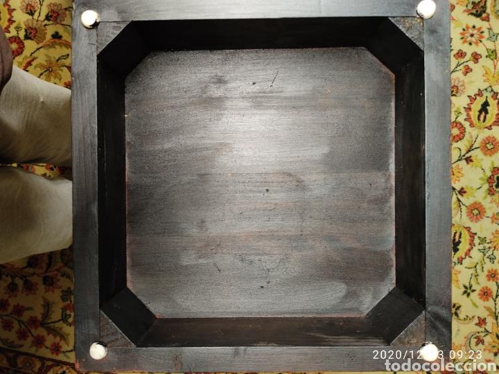 Antigüedades: Pareja de peanas de madera lacada - Foto 7 - 205514642