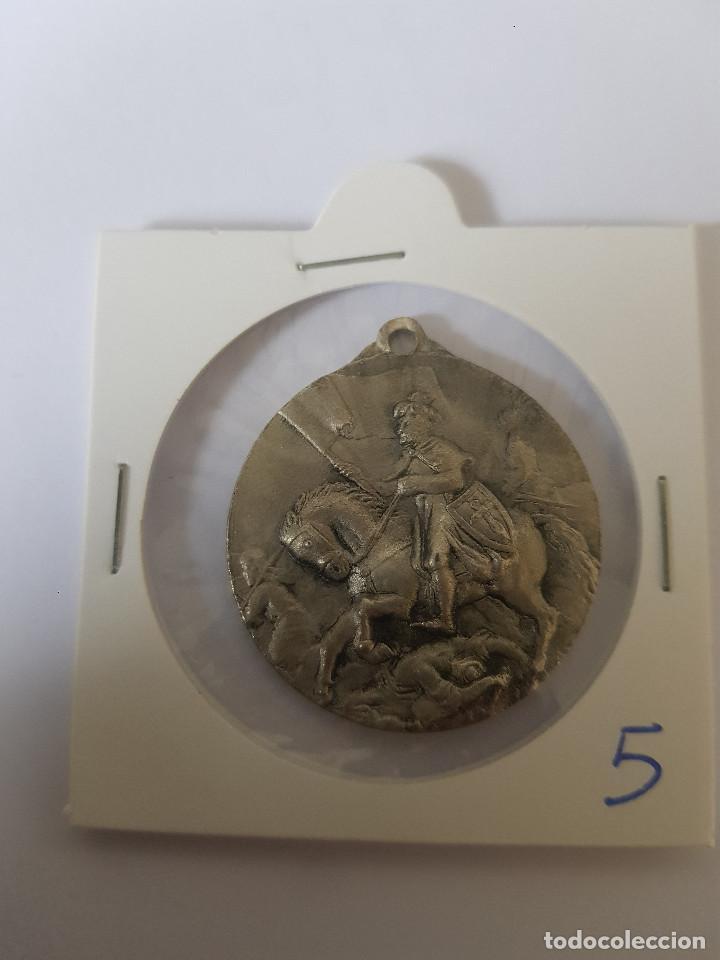 MEDALLA SANTIAGO MATAMOROS (Antigüedades - Religiosas - Medallas Antiguas)