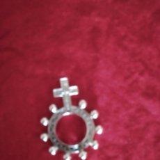 Antigüedades: ROSARIO ANILLO PLATA. Lote 229827210