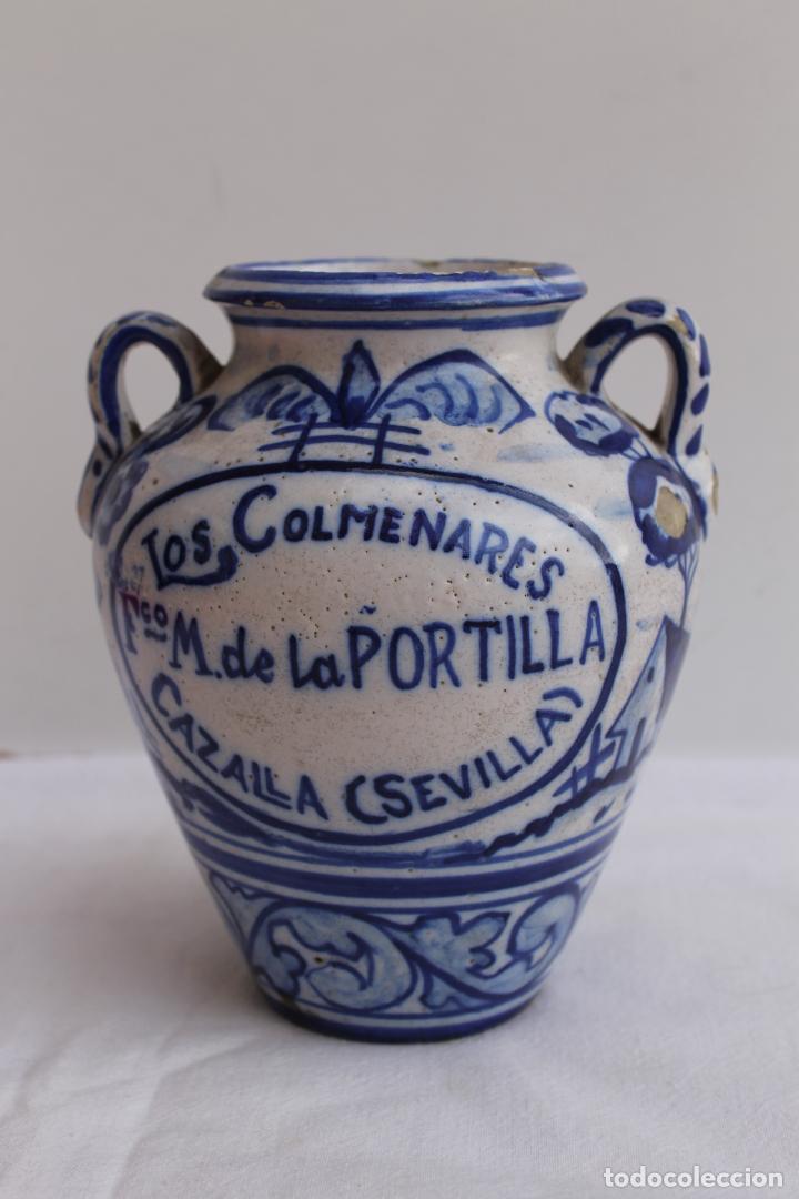 ORZA PEQUEÑA DE CERAMICA DE TRIANA SERIE AZUL (Antigüedades - Porcelanas y Cerámicas - Triana)