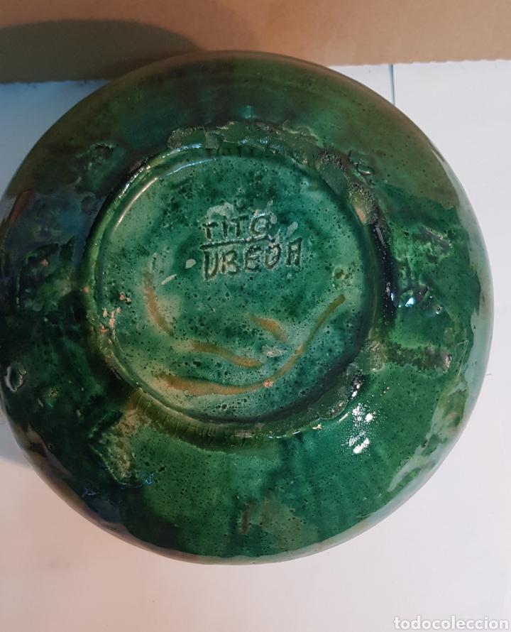 Antigüedades: VASIJA DE CERÁMICA VIDRIADA VERDE TITO ÚBEDA CON MOTIVOS GEOMÉTRICOS - Foto 4 - 229928060
