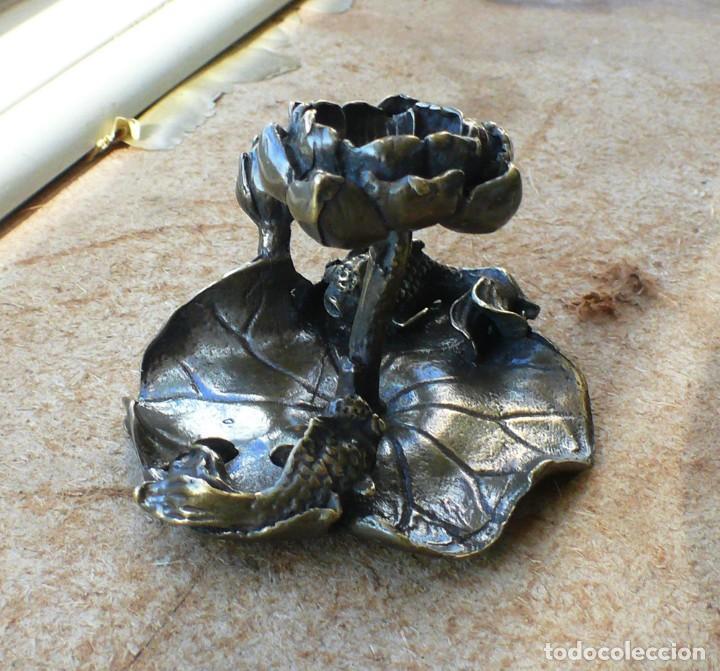 Antigüedades: escultura en miniatura. bronce .LOTO - Foto 7 - 229961905