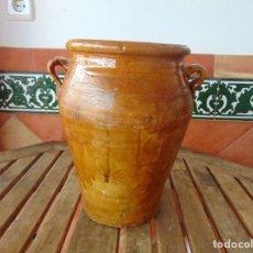 Antigüedades: ANTIGUA ORZA MANTEQUERA CERÁMICA DE TRIANA ?? SEVILLA??. Lote 230020625
