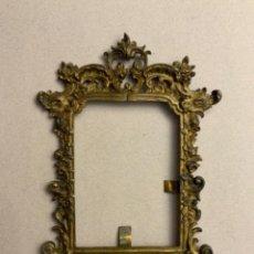 Antigüedades: PEQUEÑO MARCO BRONCE DORADO (S. XIX). Lote 230032275