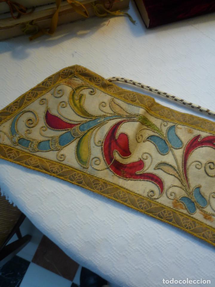 Antigüedades: Alzacuello para ornamento sacerdotal - Foto 3 - 230053630
