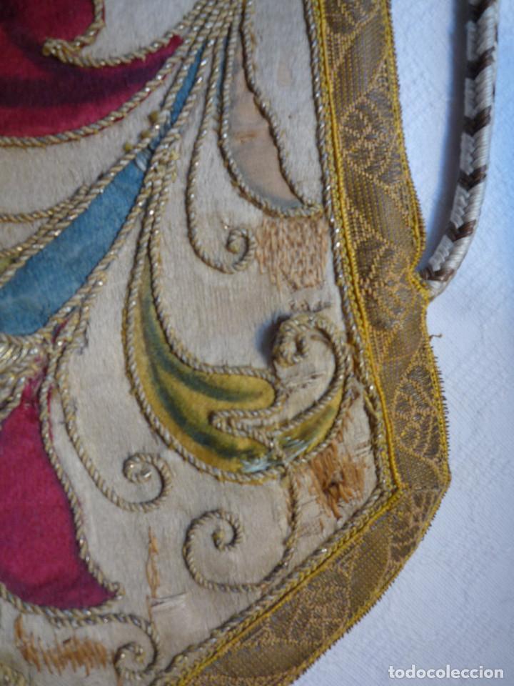 Antigüedades: Alzacuello para ornamento sacerdotal - Foto 4 - 230053630