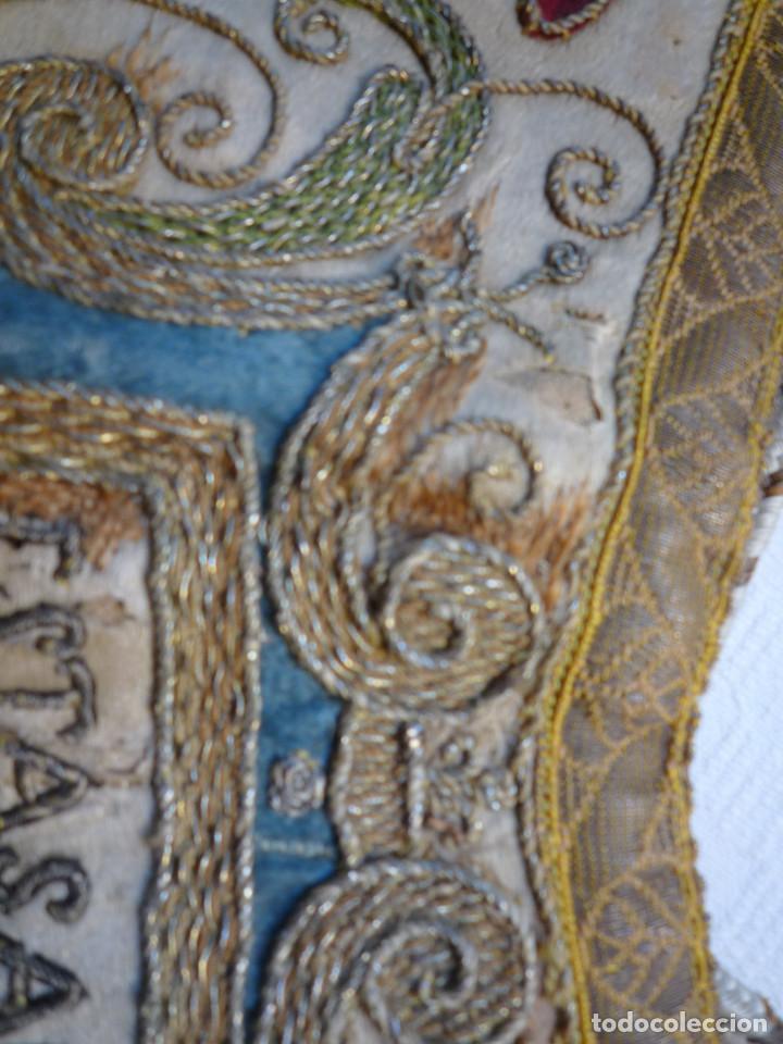 Antigüedades: Alzacuello para ornamento sacerdotal - Foto 5 - 230053630