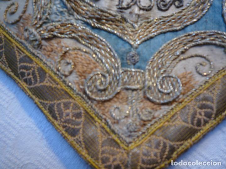 Antigüedades: Alzacuello para ornamento sacerdotal - Foto 6 - 230053630