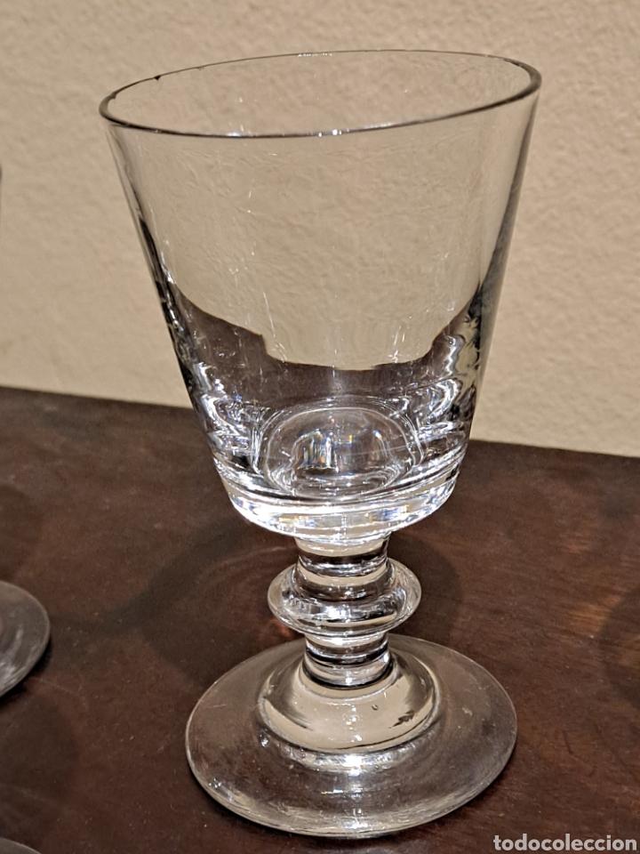 Antigüedades: Pequeñas Copas de Cristal - Foto 3 - 230061985