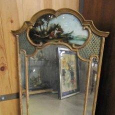 Antigüedades: ESPEJO FRANCES DEL SIGLO XIX - PINTURA EN FRONTAL -. Lote 230074490
