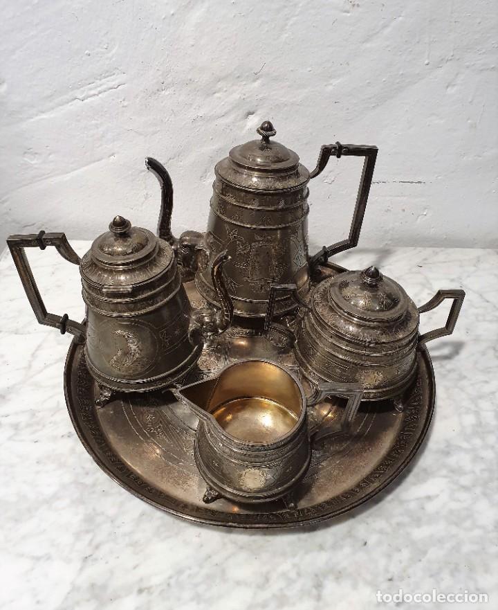 JUEGO DE CAFE PLATA MACIZA DE ROVIRA CARRERAS (Antigüedades - Platería - Plata de Ley Antigua)