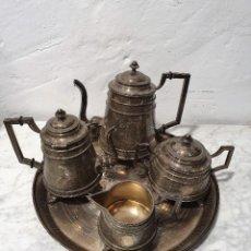Antigüedades: JUEGO DE CAFE PLATA MACIZA DE ROVIRA CARRERAS. Lote 230123345