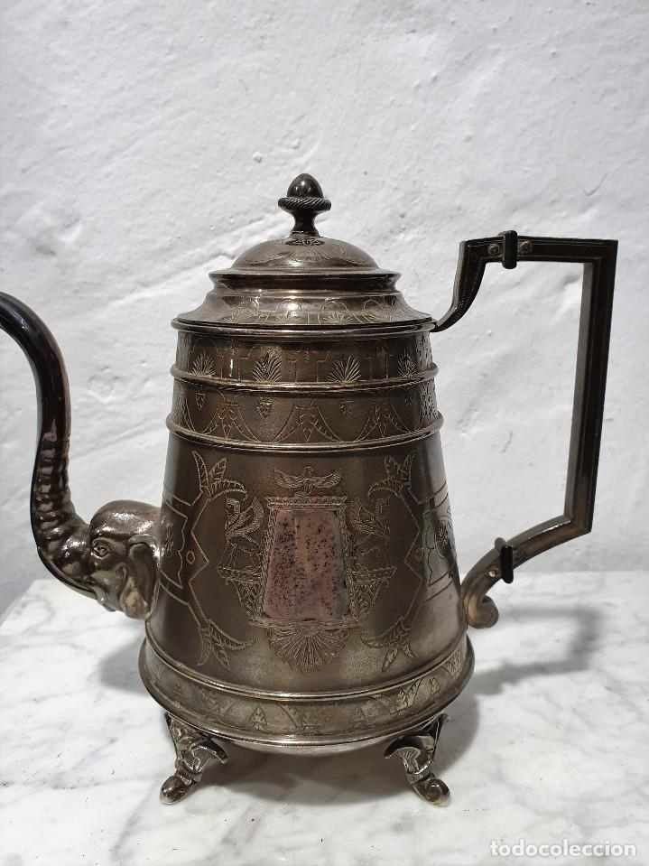 Antigüedades: JUEGO DE CAFE PLATA MACIZA DE ROVIRA CARRERAS - Foto 2 - 230123345