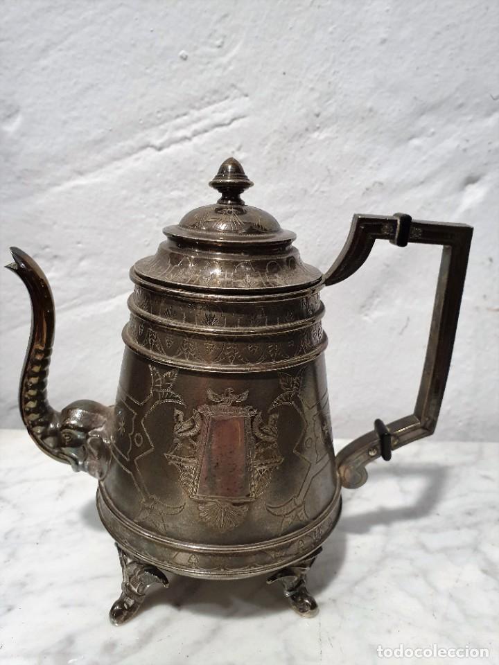 Antigüedades: JUEGO DE CAFE PLATA MACIZA DE ROVIRA CARRERAS - Foto 6 - 230123345