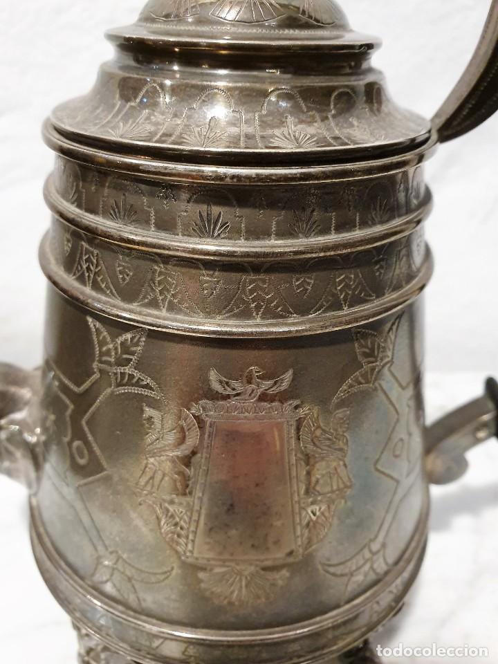 Antigüedades: JUEGO DE CAFE PLATA MACIZA DE ROVIRA CARRERAS - Foto 7 - 230123345
