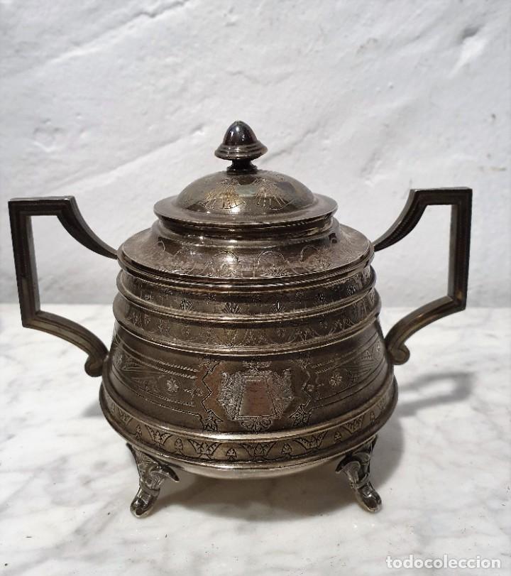 Antigüedades: JUEGO DE CAFE PLATA MACIZA DE ROVIRA CARRERAS - Foto 8 - 230123345