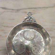 Antigüedades: MAGNÍFICO CATAVINOS DE PLATA FINALES SIGLO XIX. Lote 230158135
